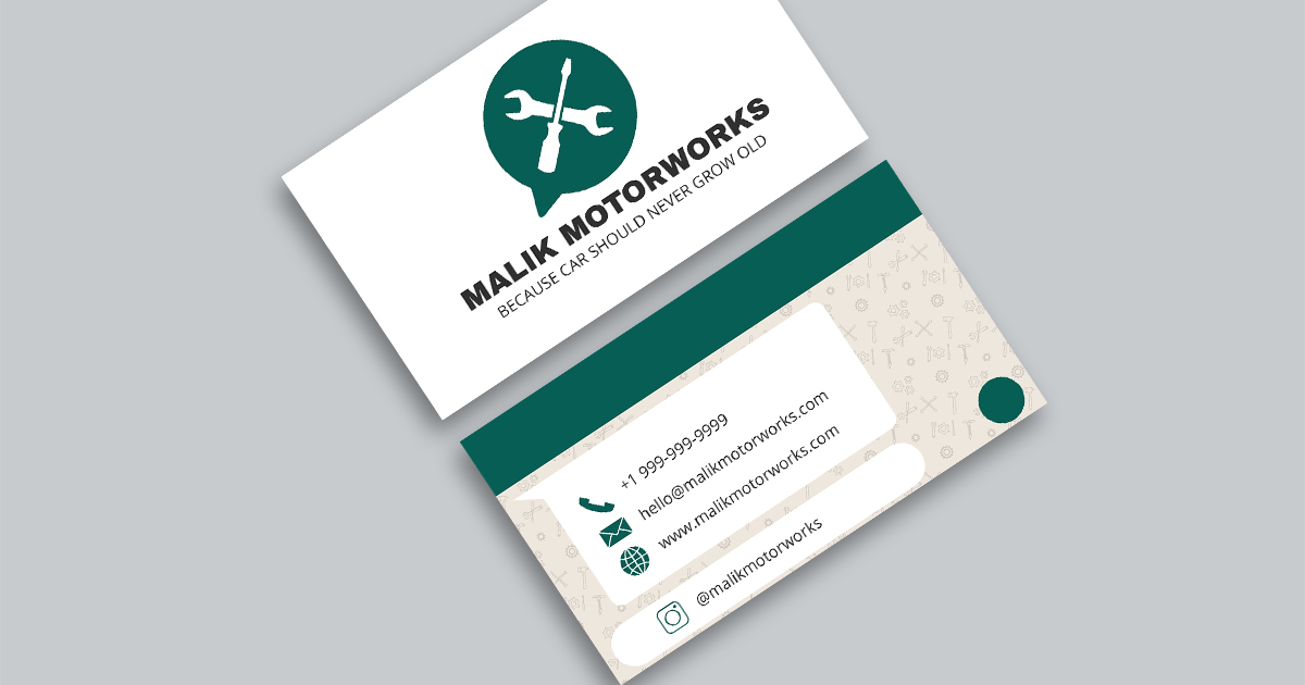 10 automotive business card templates fully customisable for Automotive business card templates